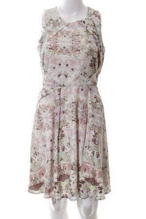 b69a0e8ee5fb8c Mint berry A-lijn jurk bloemen patroon casual uitstraling