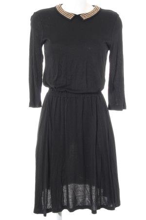 Mint&berry A-Linien Kleid schwarz-goldfarben Casual-Look