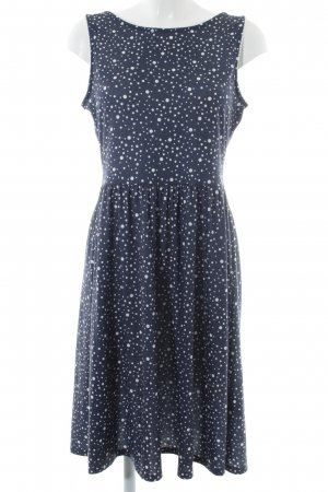 Mint&berry Abendkleid dunkelblau-weiß Punktemuster Casual-Look