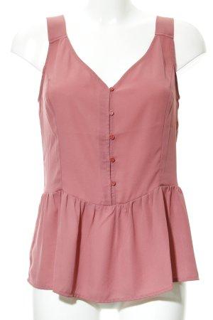 Mint&berry ärmellose Bluse hellrot Romantik-Look