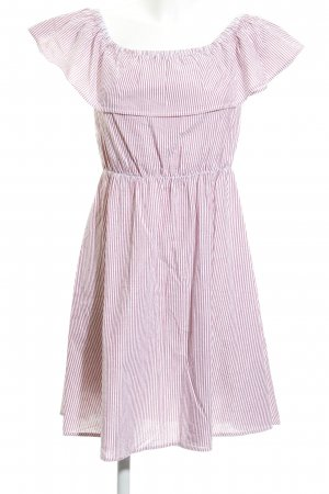 Mint&berry Bandeau Dress white-brick red striped pattern casual look