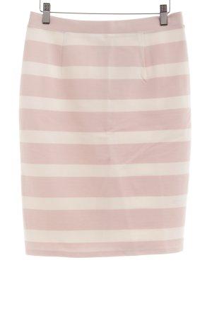 Mint&berry Bleistiftrock hellrosa-weiß Streifenmuster Casual-Look