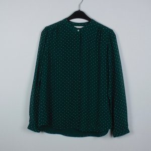 Mint & Berry Bluse Gr. 36 grün weiß gepunktet (19/04/317)