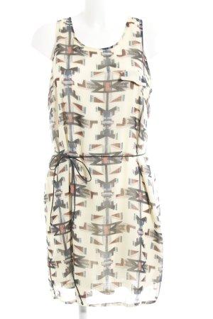 Mint&berry Blusenkleid abstraktes Muster schlichter Stil