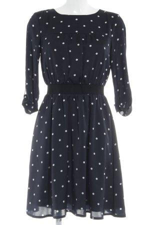Mint&berry Blusenkleid dunkelblau-weiß Punktemuster Elegant