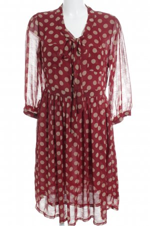 Mint&berry Blusenkleid dunkelrot-creme Punktemuster Casual-Look
