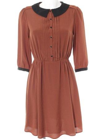 Mint&berry Blusenkleid schwarz-braun Elegant