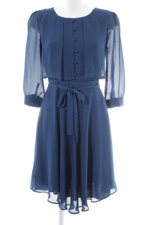 Mint&berry Blusenkleid stahlblau Lagen-Look