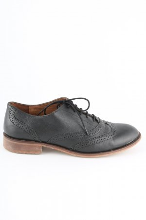 Mint&berry Wingtip Shoes black-brown business style
