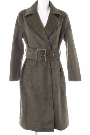 Mint&berry Heavy Pea Coat forest green-olive green elegant