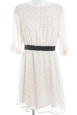 Mint&berry Robe chiffon rose clair-noir motif de tache élégant