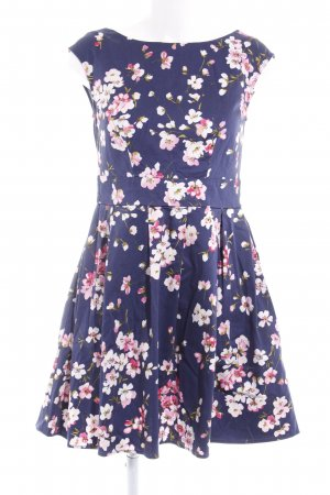 Mint&berry Cocktailkleid dunkelviolett-pink florales Muster Casual-Look