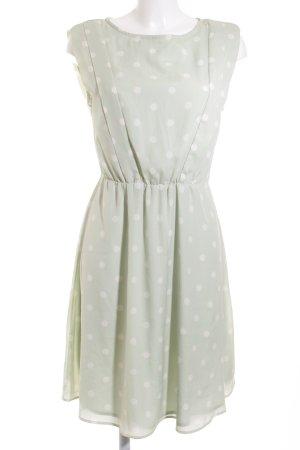 Mint&berry Cocktailkleid mint-weiß Punktemuster Romantik-Look
