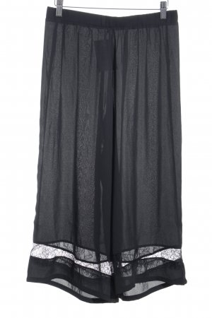 Mint&berry Falda pantalón de pernera ancha negro estilo romántico