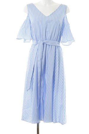 Mint&berry Robe découpée blanc cassé-bleu azur style mode des rues