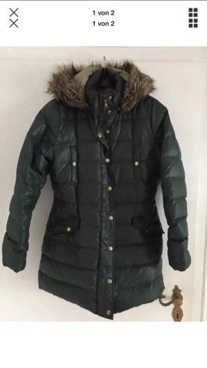 Mint&berry Gewatteerde jas donkergroen