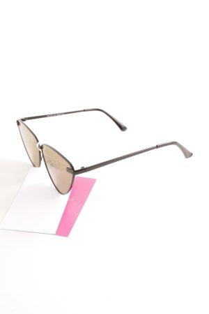 Mint&berry eckige Sonnenbrille schwarz-ocker Casual-Look