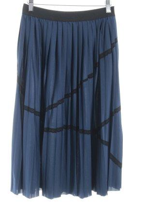 Mint&berry Faltenrock dunkelblau-schwarz Casual-Look