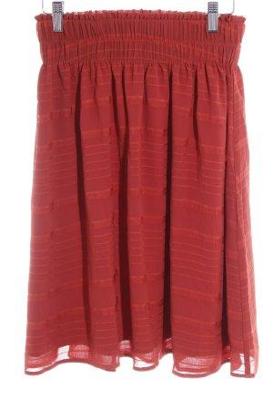 Mint&berry Plaid Skirt russet striped pattern elegant