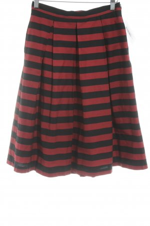 Mint&berry Plaid Skirt black-dark red striped pattern casual look