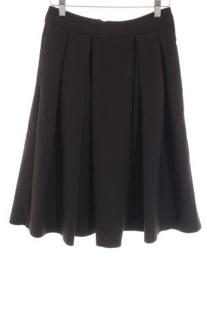 Mint&berry Faltenrock schwarz Elegant