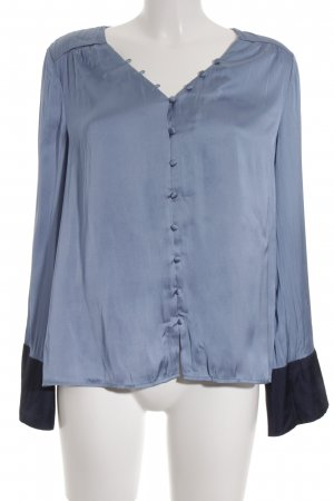 Mint&berry Glanzbluse himmelblau Glanz-Optik
