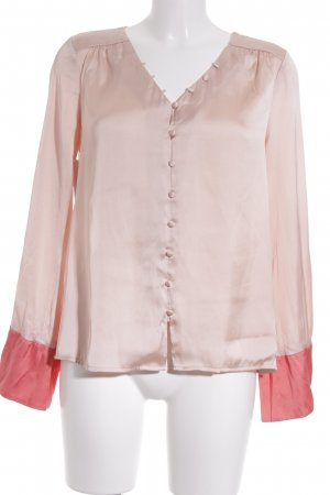 Mint&berry Blouse brillante or rose style mouillé