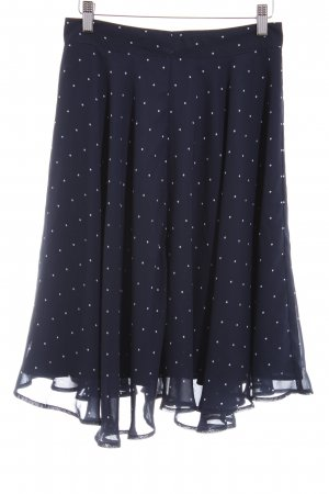 Mint&berry Flared Skirt black-white spot pattern casual look