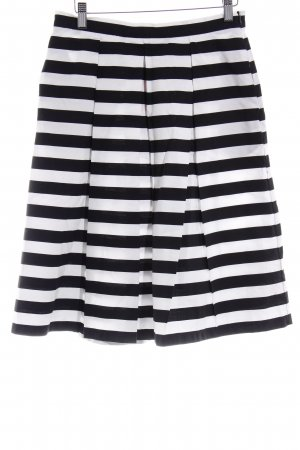 Mint&berry Glockenrock schwarz-weiß Streifenmuster Casual-Look
