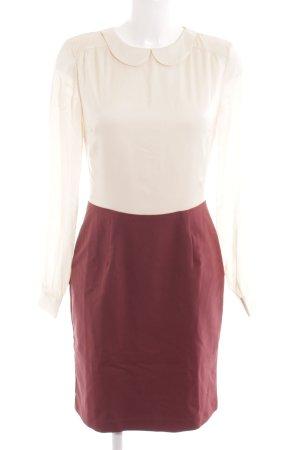 Mint&berry Hemdblusenkleid bordeauxrot-creme Casual-Look