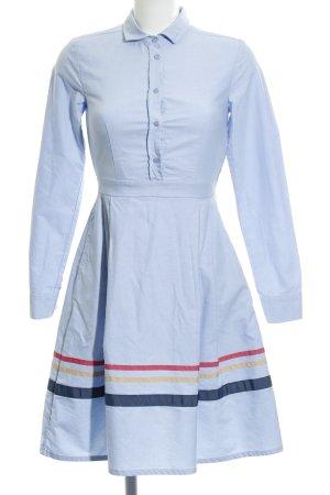 Mint&berry Robe chemise bleu azur motif rayé élégant
