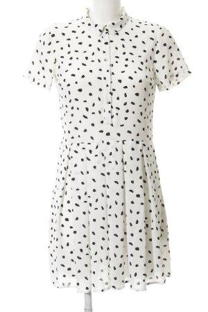 Mint&berry Hemdblusenkleid weiß-schwarz Punktemuster Casual-Look