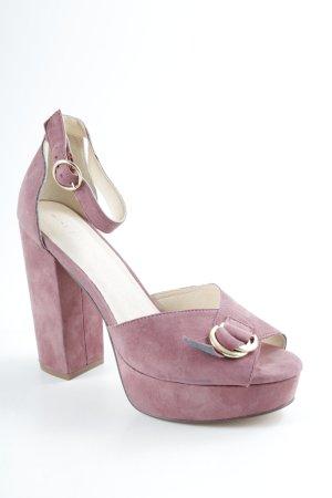 Mint&berry High Heel Sandaletten hellbraun Casual-Look