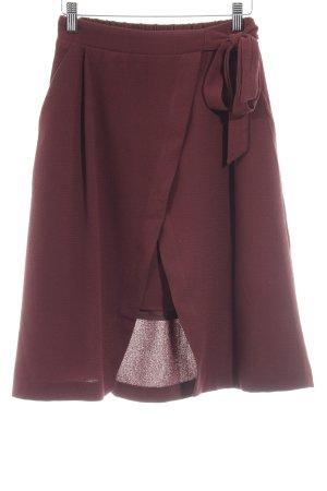 Mint&berry Falda de talle alto burdeos elegante