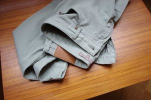 Mint&berry Pantalone cinque tasche blu pallido-verde-grigio Cotone