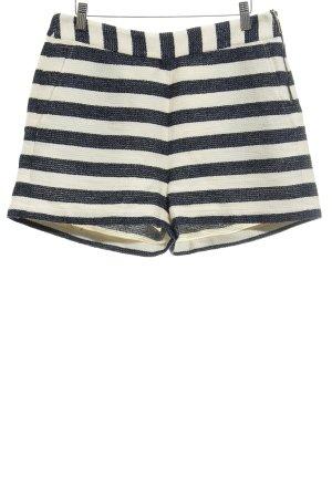 Mint&berry Pantalón corto beige claro-azul oscuro estampado a rayas