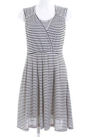 Mint&berry Jerseykleid schwarz-weiß Streifenmuster Casual-Look