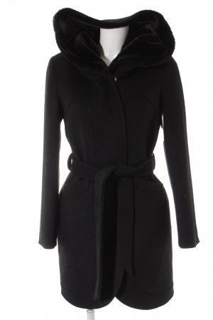 Mint&berry Hooded Coat black casual look