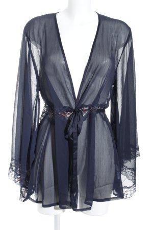 Mint&berry Kimono azul oscuro-bermejo estilo romántico