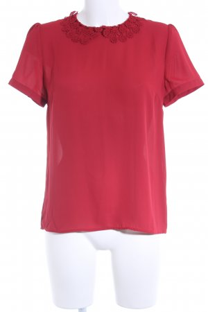 Mint&berry Kurzarm-Bluse dunkelrot Casual-Look