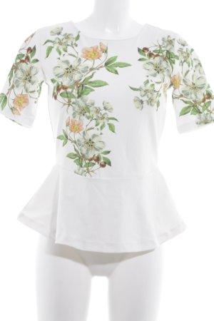 Mint&berry Kurzarm-Bluse florales Muster Elegant