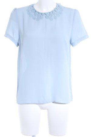 Mint&berry Kurzarm-Bluse himmelblau Casual-Look