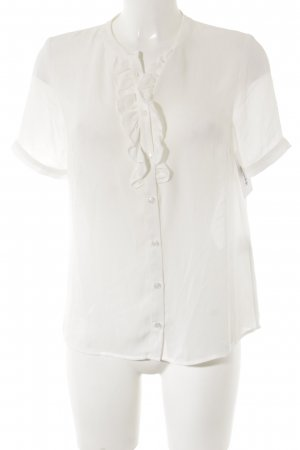 Mint&berry Kurzarm-Bluse weiß Elegant