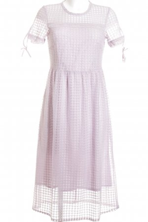 Mint&berry Kurzarmkleid flieder-blasslila Romantik-Look