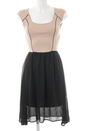 Mint&berry Kurzarmkleid nude-schwarz Casual-Look