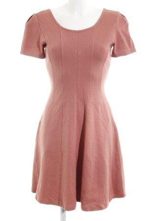 Mint&berry Kurzarmkleid roségoldfarben Casual-Look