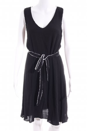 Mint&berry Kurzarmkleid schwarz-weiß Elegant