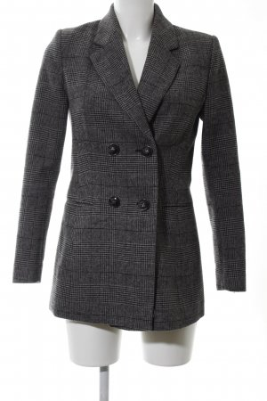 Mint&berry Short Coat black-dark grey houndstooth pattern elegant