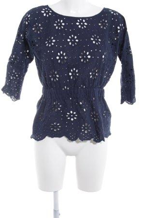Mint&berry Langarm-Bluse dunkelblau Street-Fashion-Look