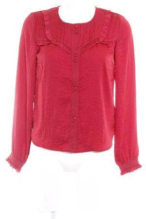 Mint&berry Langarm-Bluse dunkelrot Elegant